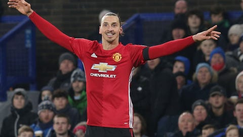 Zlatan Ibrahimovic is the man at Old Trafford
