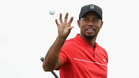 A tournament win for Tiger Woods