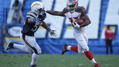 Doug Martin, RB, Buccaneers (undisclosed)