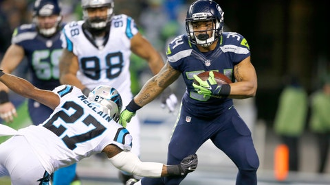 Thomas Rawls, RB, Seahawks (shoulder)