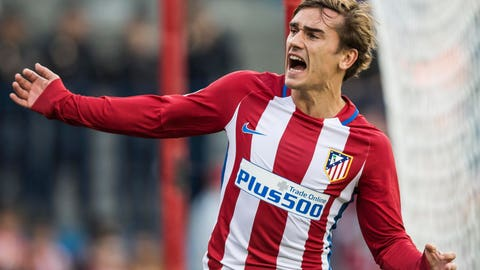 Withdrawn striker: Antoine Griezmann, Atletico Madrid