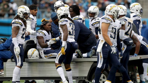 Melvin Gordon, RB, Chargers (knee)