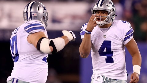 Right guard: Zack Martin, Dallas Cowboys