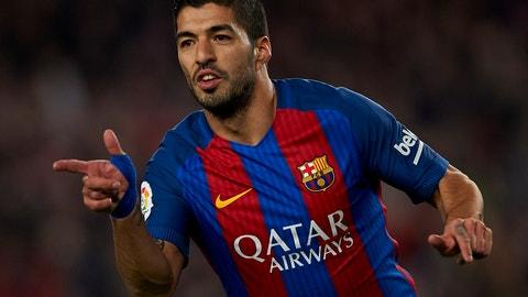 Striker: Luis Suarez, Barcelona