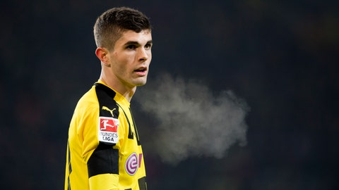 Forward: Christian Pulisic, Borussia Dortmund