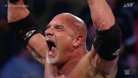 Goldberg destroys Brock Lesnar