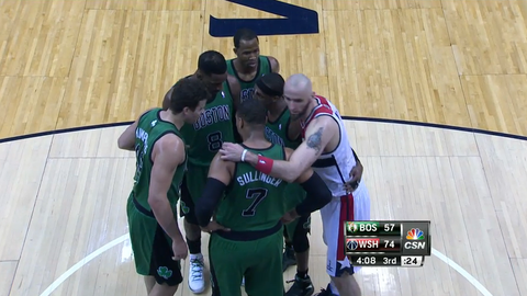 Sneaking into the opposing team's huddle