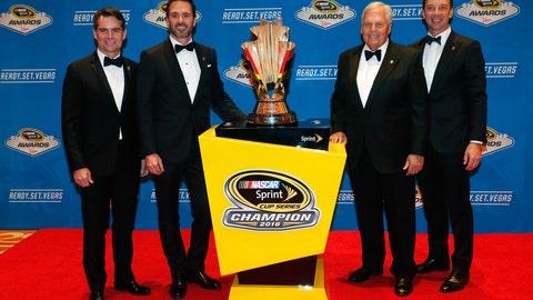 Jeff Gordon, Jimmie Johnson, Rick Hendrick and Chad Knaus
