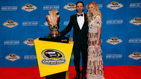 Jimmie Johnson and wife, Chandra
