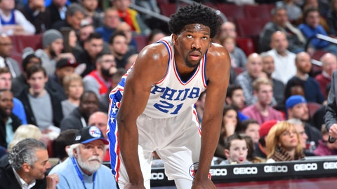 Joel Embiid is finally in uniform for the Sixers after missing the last two seasons with injuries