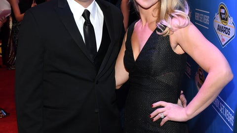 Johnny Sauter and wife Courtney