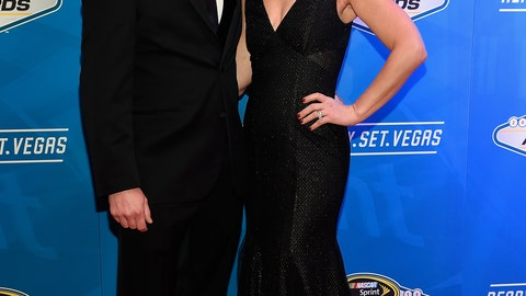 2016 Camping World Truck Series champion Johnny Sauter and wife Courtney