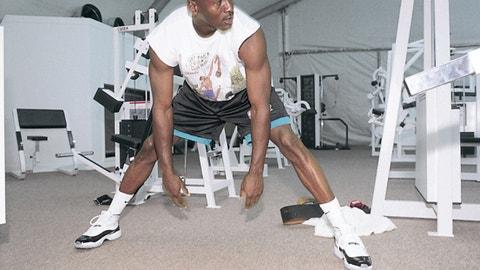 Jordan getting a stretch in the 11s