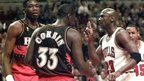 Mocking an opponent's celebration gesture