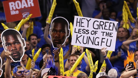 A note to the leg-flailing Draymond Green from Thunder fans