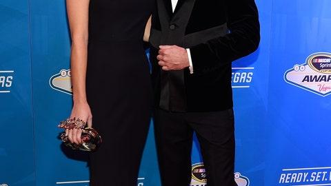 Kurt Busch and fiancé Ashley Van Metre