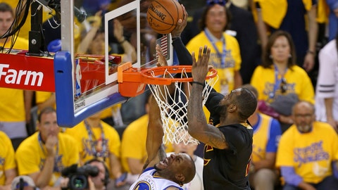 LeBron's legendary chase-down block on Andre Iguodala in Game 7 of the NBA Finals