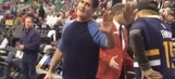 Watch: Kid savagely dabs on Marc Cuban at Jazz-Mavericks game
