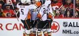 Silfverberg's go-ahead goal lifts Ducks past Flames, 3-1