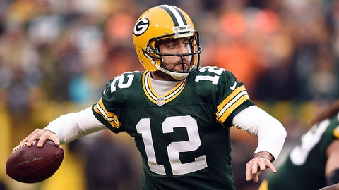 Aaron Rodgers, QB, Packers (calf): Active