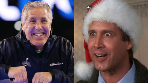 """Pete Carroll and Clark Griswold from """"National Lampoon's Christmas Vacation"""""""
