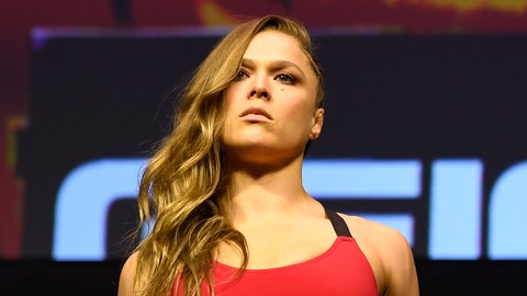 LAS VEGAS, NV - DECEMBER 29:  Ronda Rousey poses on the scale during the UFC 207 weigh-in at T-Mobile Arena on December 29, 2016 in Las Vegas, Nevada. (Photo by Josh Hedges/Zuffa LLC/Zuffa LLC via Getty Images)