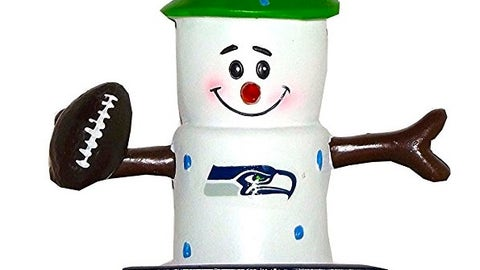 """Seahawks """"We Want S'More Wins"""" Ornament"""