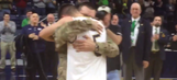 Notre Dame guard's brother comes home early from Afghanistan to surprise him at game