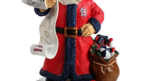 St. Louis Cardinals Santa Figurine