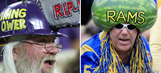 All the strange things NFL fans wear on their heads