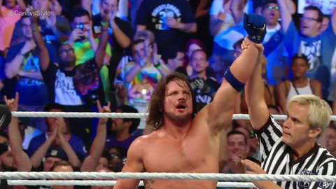 AJ Styles beats up John Cena at SummerSlam