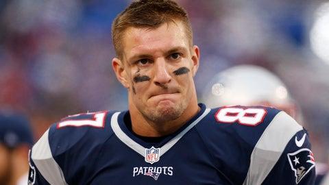 Rob Gronkowski, TE, Patriots (back): Out