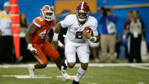 Jalen Hurts will be facing the toughest challenge of his college career