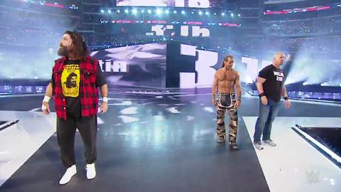 Steve Austin, Mick Foley and Shawn Michaels reunite