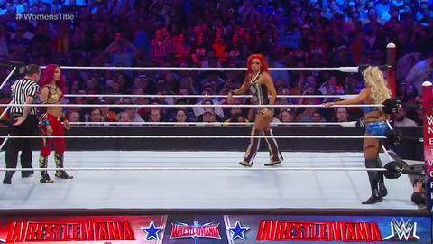 Charlotte vs. Sasha Banks vs. Becky Lynch in a triple threat match at WrestleMania 32