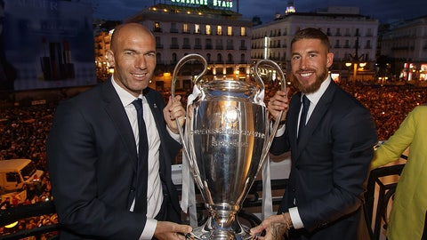 Real Madrid promote Zindine Zidane