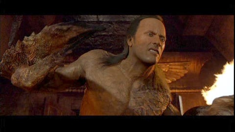 The Rock, 'The Mummy Returns'