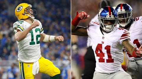 NFC: No. 4 Green Bay Packers (10-6) vs. No. 5 New York Giants (11-5)