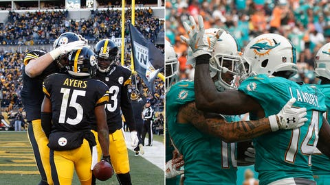 AFC: No. 3 Pittsburgh Steelers (11-5) vs. No. 6 Miami Dolphins (10-6)