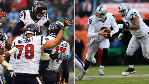 NFC: No. 4 Houston Texans (9-7) vs. No. 5 Oakland Raiders (12-4)