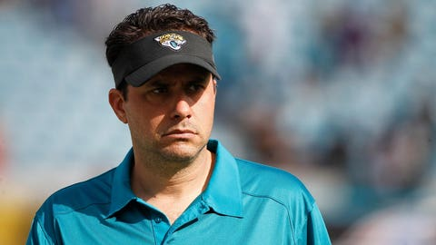 Dec 22, 2013; Jacksonville, FL, USA; Jacksonville Jaguars offensive coordinator Jedd Fisch prior to the game against the Tennessee Titans at EverBank Field. Mandatory Credit: Kim Klement-USA TODAY Sports