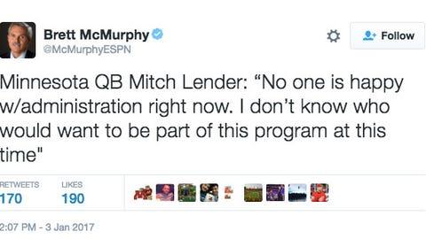 Senior QB Mitch Leidner