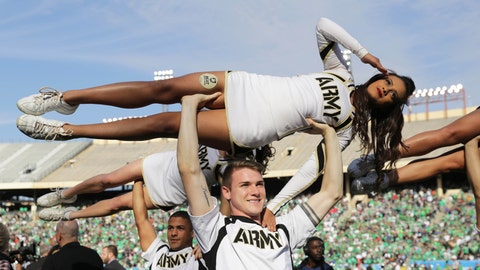 Army cheerleaders