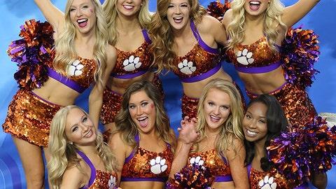 Clemson cheerleaders