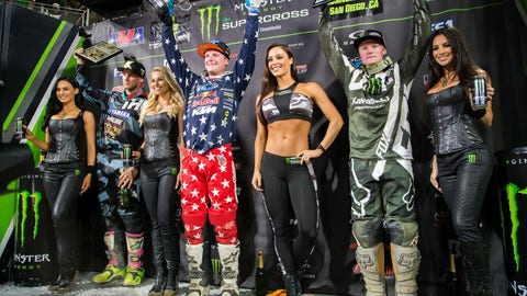 250SX West podium
