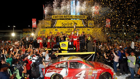 Kevin Harvick after winning 2014 championship