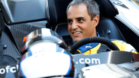 Juan Pablo Montoya won the Race of Champions at the Marlins Park baseball stadium in Miami on Saturday. (Photo: Alexander Trienitz/LAT Photographic)