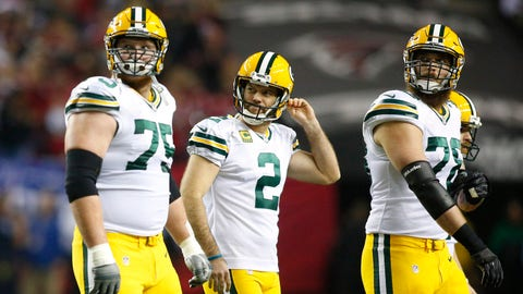 Mason Crosby's missed first-quarter field goal