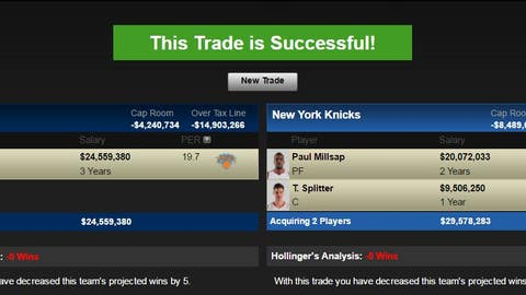 Atlanta Hawks: Carmelo Anthony for Paul Millsap and Tiago Splitter