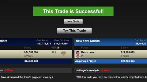 Cleveland Cavaliers: Carmelo Anthony for Kevin Love